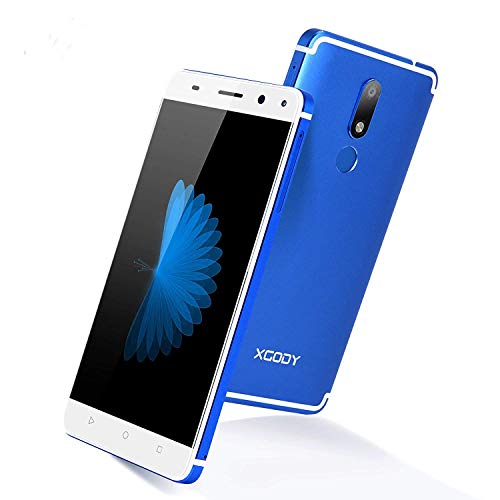 Xgody D22 5.5 Android 7.0 Nougat with Fingerprint 4G FDD-LTE Smart Phone Unlocked MTK6737 Dual Camera (13MP+5MP) GPS WIFI HD Screen Cellphone Unlocked (Blue)