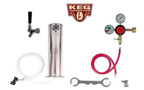 1 Tower Keg Kit - Taprite Regulator - Ball LOCK, NO KEGS or CO2 by Kegconnection