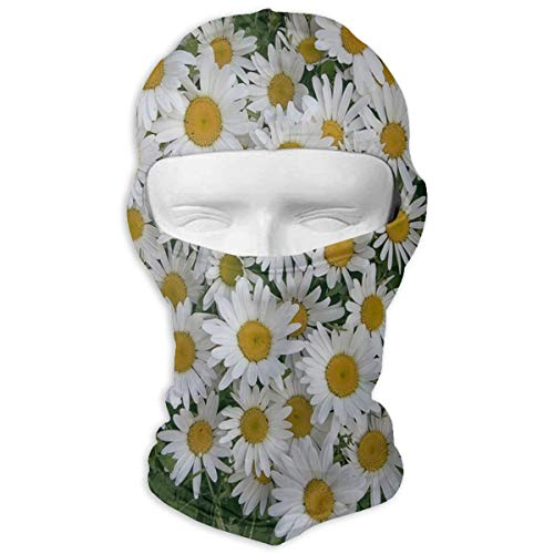 Balaclava Heart of Flowers White Daisy Fantastic Full Face Masks UV Protection Snowboarding for ()