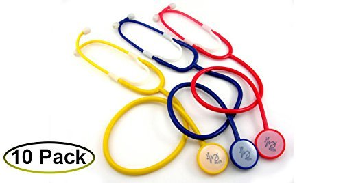 EMI Disposable Stethoscopes 10 pack - Red
