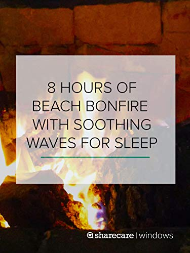 8 Hours of Beach Bonfire with Soothing Waves for Sleep