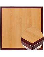 Flash Furniture 30'' Square 2-Tone High-Gloss Cherry/Mahogany Resin Table Top with 2'' Thick Drop-Lip