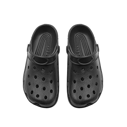 Zack & Evan Mens Slingback Clogs with Ventilated Upper Size 7-8 Black