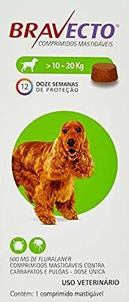 Bravecto Cães 10 até 20kg, 500mg Bravecto para Cães, 10 até 20kg