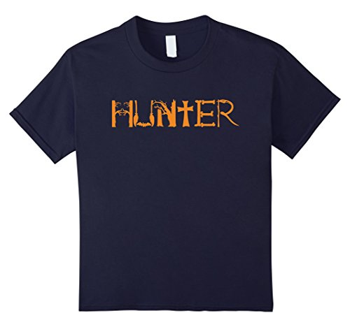 Make Witch Hunter Costume (Kids Halloween Hunter Funny T-shirt Hospital Hunting Costume 12 Navy)