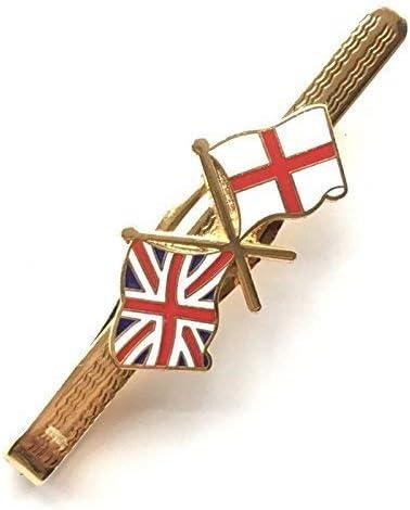 EN CAJA DE REGALO GB Union Jack / Inglaterra Amistad ESMALTADO CON ESCUDO ALFILER DE CORBATA (n134): Amazon.es: Joyería