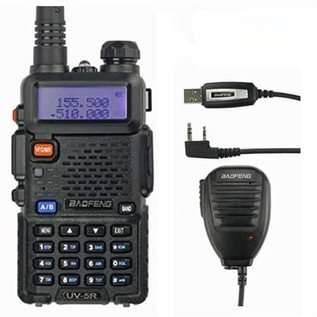 de la mano de 108 mhz transceptores radio Baofeng UV-5R 2 M//70 cm 136-174//400-480 mhz VHF//UHF de banda dual para aficionados aparato de radio FM 65
