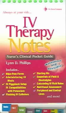 Iv Therapy Notes: Nurse's Pharmacology Pocket Guide