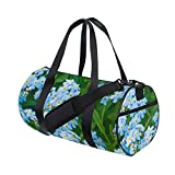 Best  - Duffel Bag Blue Tropical Flower Women Garment Gym Review