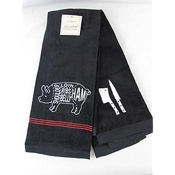 Pig Kitchen Cloth Towels Chefs Cut Butcher Dish Towels Chart (16 In. X 28