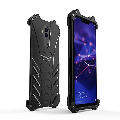 Huawei Mate 20 Lite Metal Case, HikerClub Batman Shape Aluminum Alloy Shell Armor Military Grade Defender Heavy Duty Sturdy Frame Edge Shockproof Case with Bat Stand for Huawei Mate 20 Lite