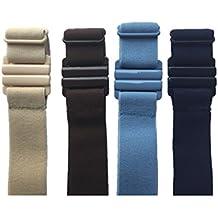 Adjustable Stretch Belt: No Show Flat Buckle, Non-Slip Backing