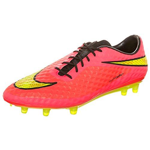 Nike - Zapatillas de fútbol Hypervenom Phantom FG , Hombre , Blanco (Black/Neo Lime-White) Rosa