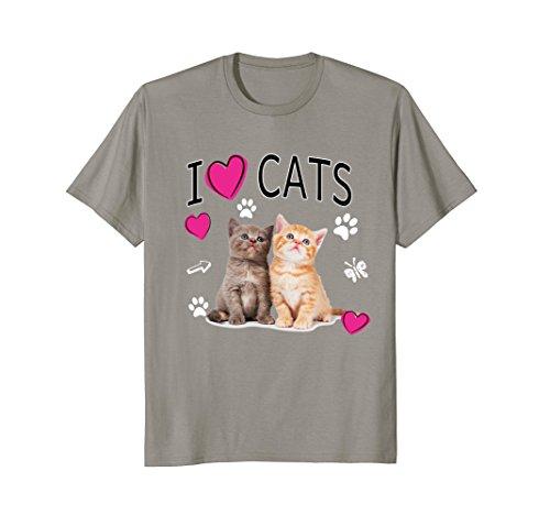 I Love Cats shirt - I Love Kittens Shirt Gift - Kittens Love