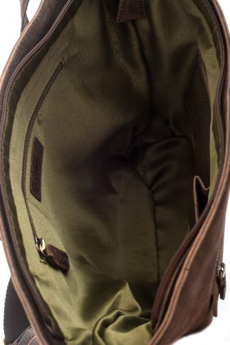 bag buffalo Monaco vintage in genuine LEABAGS Nutmeg style shopper Nutmeg leather 4OpEn1qXq