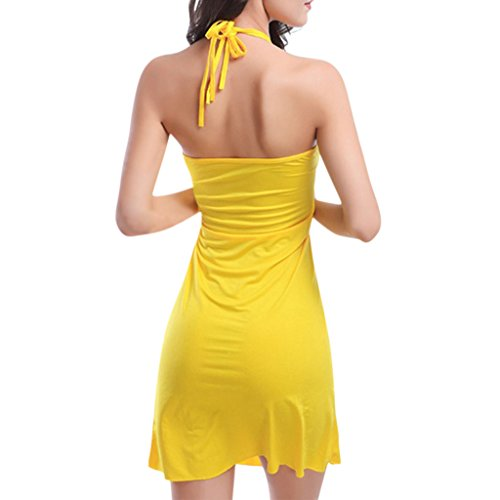 Hee Grand Femmes Robe De Plage FR 42/44(CN XL) Jaune