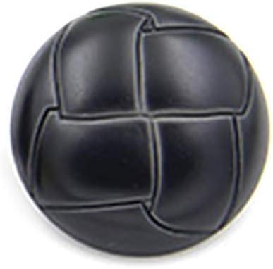 Nubstoer - 10 Botones Redondos de plástico de imitación de Piel para Vestidos, Abrigos, Adornos, 20 mm