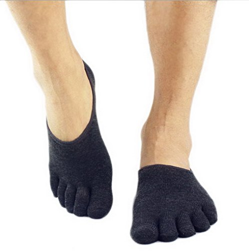 Pilates Acme Oscuro Yoga Men Sport Cotton Five Gris Toes Socks For Gym qqHXAB