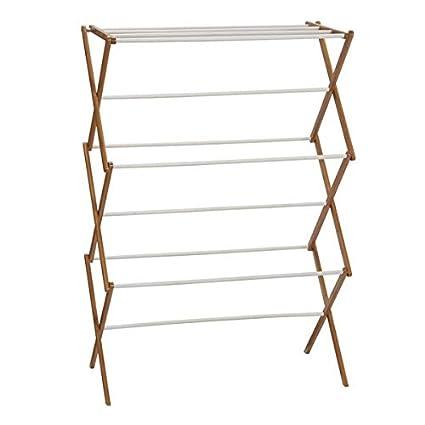 Amazon Com Easy Dry Bamboo Accordion Freestanding Drying Racks