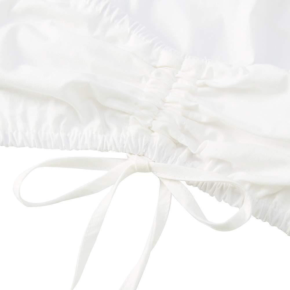 Funnycokid Chemisier Dirndl Femme Blanc Noir Chemisier Dirndl avec la/çage et Encolure Ajustable Chemisier Trachten 100/% Coton pour Oktoberfest