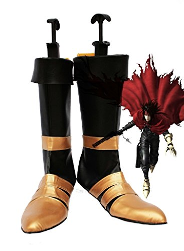 Dirge of Cerberus : Final Fantasy VII FF7 Vincent Valentine Cosplay Shoes Boots Custom Made ()