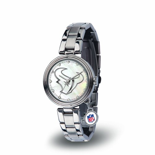 (NFL Houston Texans Charm Watch, Silver)