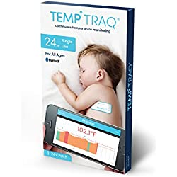TempTraq Wearable Smart Thermometer – 24HR Continuous Fever Monitoring with Mobile Alerts