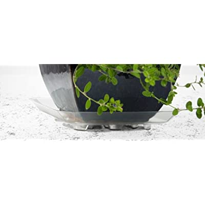 Plastec SQR14 Square Recycled Plant Saucer, 14-Inch : Garden & Outdoor