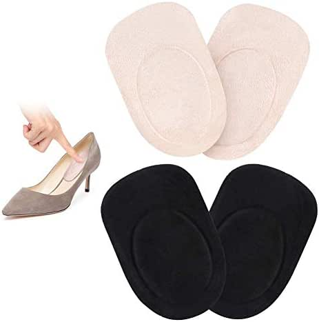 2 Pairs Gel Heel Pads, Silicone Gel Heel Cups for Heel Pain, Bone Spur and Achilles Pain Relief, Leg Length Discrepancies Correction, Fit for Men Women Kids