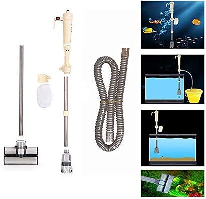 Limpiador de Grava Eléctrico de Acuario Sifón Vacío Filtro de Agua Bomba de Agua para Acuario Tanque de Peces: Amazon.es: Productos para mascotas