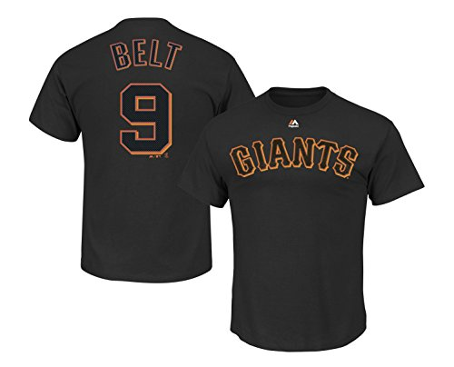 Outerstuff Brandon Belt San Francisco Giants #9 Youth Player Name & Number T-Shirt Black (Youth Medium 10/12)