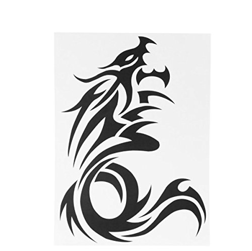 Dragon Tattoo Sticker Waterproof Temporary Tattooing Paper Body Art Temporary Tattoos 26.5 19.3cm (Hippie Tattoo Designs)