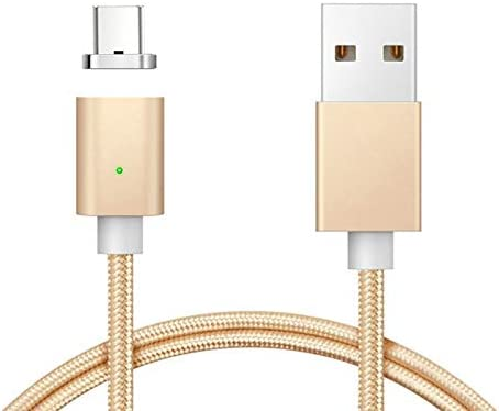ACHICOO Magnetic USB Type C Cable Fast Charging USB C Charger Cables for Xia-omi Mi6 Gal-axy S8 Type-c Data Sync Magnet USB-C Micro Plug Silver Electronic Phone Computer Products for Travel//Work