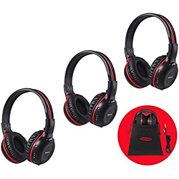 Amazon xo vision universal ir in car entertainment wireless 3 pack of dvd wireless headphones car kids headphones ir headphones for car entertainment system wireless ir headphones with dual channel fandeluxe Images