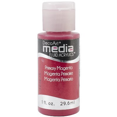 Deco Art Media Fluid Acrylic Paint, 1-Ounce, Primary Magenta