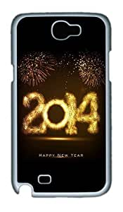 2015 Happy New Year Fireworks Custom Designer For HTC One M7 Case Cover - Polycarbonate - White