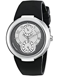 Philip Stein Womens 31-AGRW-RBB Active Stainless Steel Watch with Black Rubber Strap