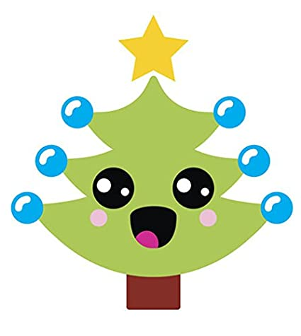 Christmas Tree Emoji.Amazon Com Happy Holiday Christmas Tree Emoji Vinyl Decal