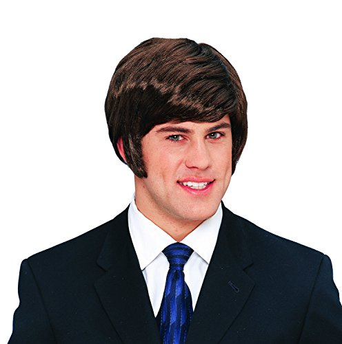 (Costume Culture 70's Dude Wig Deluxe, Brown, One Size)