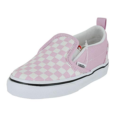 Vans Toddler T Slip ON Checkerboard Lilac Snow True White Size 9 -