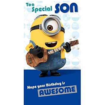 Special Son Minions Birthday Card Amazon Toys Games