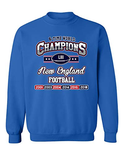 New World Champion 6-Time Football DT Crewneck Sweatshirt