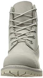 Timberland Women\'s 6in Premium W Winter Boot, Flint Grey Waterbuck/Monochromatic, 7 M US