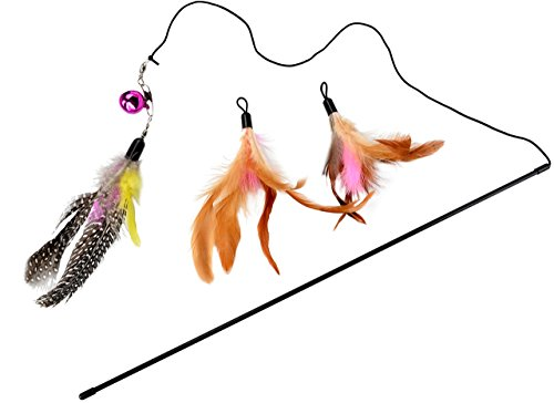 Mimibox-Toys-Bird-Catcher-Pro-Interactive-Cat-Scratcher-Super-Wand-Fishing-Pole-Teaser-with-Two-Feather-Refill