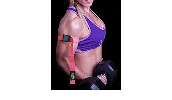 Bicep Strap Rosa Mujer Max Biceps Flujo Sanguíneo Restricción Oclusión Entrenamiento Cintas Ayudarle a Gana Músculo más Rápida Biceps & Triceps Gomas ...