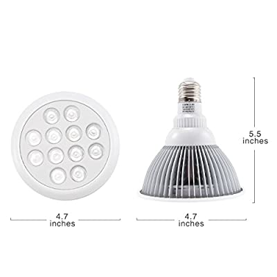 Hydroponic LED Plant Grow Light, Seresroad E27 12w Plants Grow Light Bulb for Indoor Growing Garden Greenhouse-12 LEDS (3 Blue & 9 Red) Super Effective Growing Combination for Houseplant