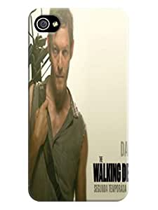 Faustino Olea Beauty design tpu hard back shell case cover for iphone 4/4s (The Walking Dead Daryl Dixon)