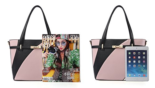Top Handle Bags for Women Leather Tote Purses Handbags Satchel Crossbody Shoulder Bag form Nevenka (Red) by Nevenka (Image #4)