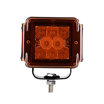 Swatow Industries 3 Inch Amber LED Pod Covers 2PCS Square LED Light Bar Covers LED Cube Covers Protective Polycarbonate Light Bar Lens Covers: Automotive
