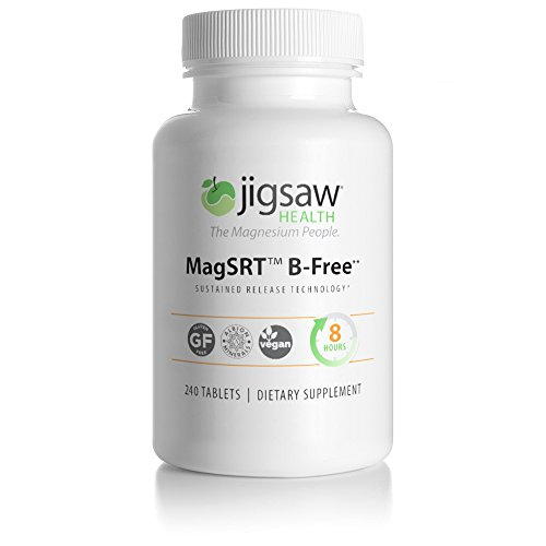 240 Tabs 240 Tablets - MagSRT (Jigsaw Magnesium w/SRT) Premium, Organic, Slow Release Magnesium Supplement - Active, Bioavailable Magnesium Malate Tablets - 240 ct